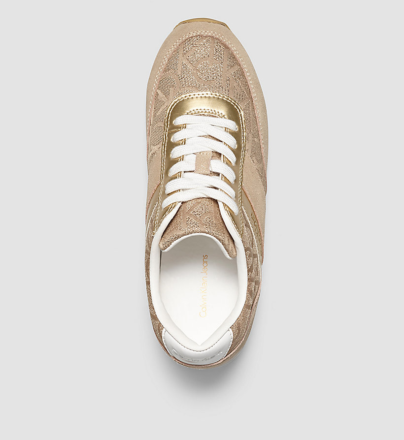 CKJEANS Jacquard Suede Sneakers - GOLD/GOLD/GOLD - CK JEANS SHOES & ACCESSORIES - detail image 1