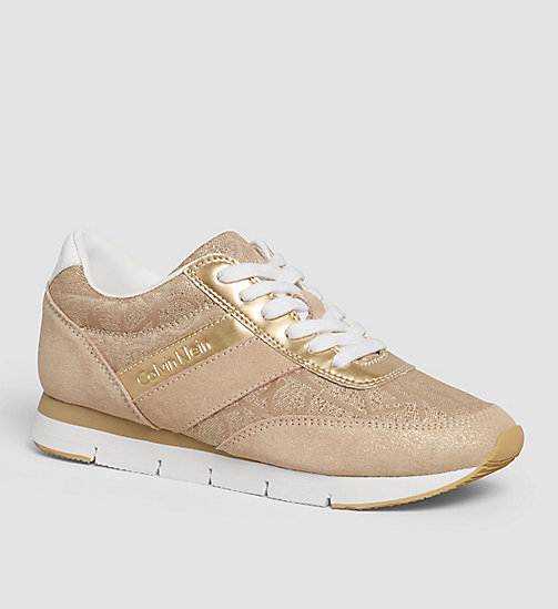 Jacquard Suede Sneakers - GOLD/GOLD/GOLD - CALVIN KLEIN JEANS  - main image
