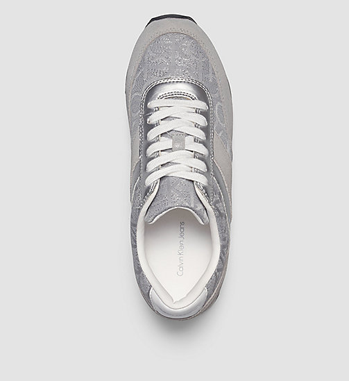 CALVIN KLEIN JEANS Logo Jacquard Suede Sneakers - GOLD/LIGHT SILVER/LIGHT SILVER - CALVIN KLEIN JEANS ATHLETIC INSPIRED - detail image 1