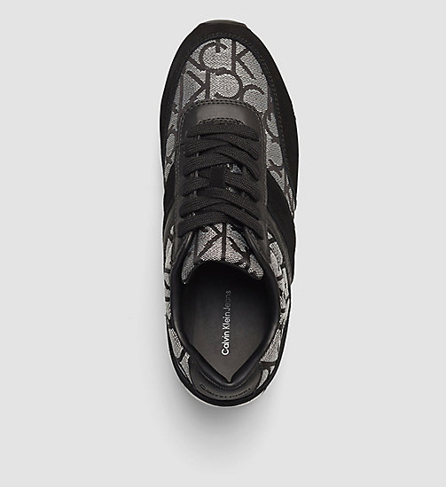 Jacquard Suede Sneakers - SILVER/BLACK - CALVIN KLEIN JEANS  - detail image 1
