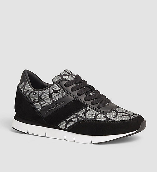 CKJEANS Jacquard Suede Sneakers - SILVER / BLACK - CK JEANS SUNGLASSES - main image