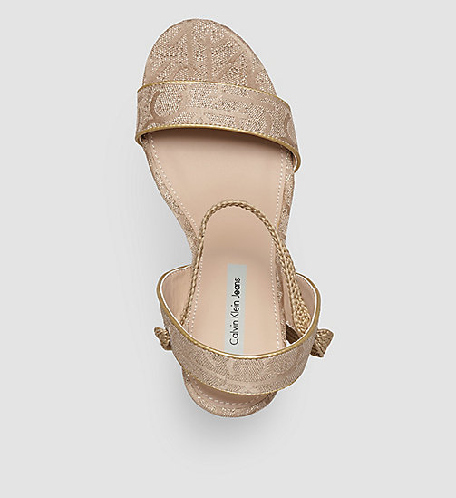 CKJEANS Metallic Jacquard Logo Sandals - GOLD/GOLD - CK JEANS SHOES - detail image 1