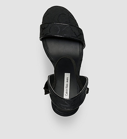 Jacquard Logo Sandals - BLACK/BLACK/BLACK - CK JEANS SHOES & ACCESSORIES - detail image 1
