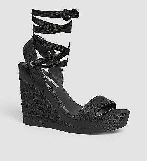 CKJEANS Jacquard Logo Sandals - BLACK/BLACK/BLACK - CK JEANS SHOES & ACCESSORIES - main image