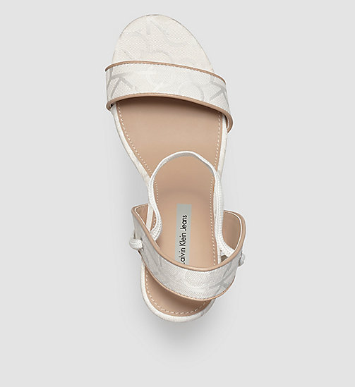 Jacquard Logo Sandals - WHITE/WHITE/NATURAL - CK JEANS SHOES & ACCESSORIES - detail image 1