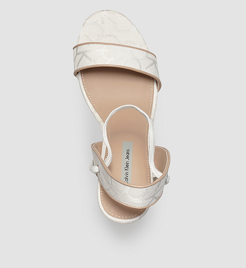 CKJEANS Jacquard Logo Sandals - WHITE/WHITE/NATURAL - CK JEANS SHOES & ACCESSORIES - detail image 1