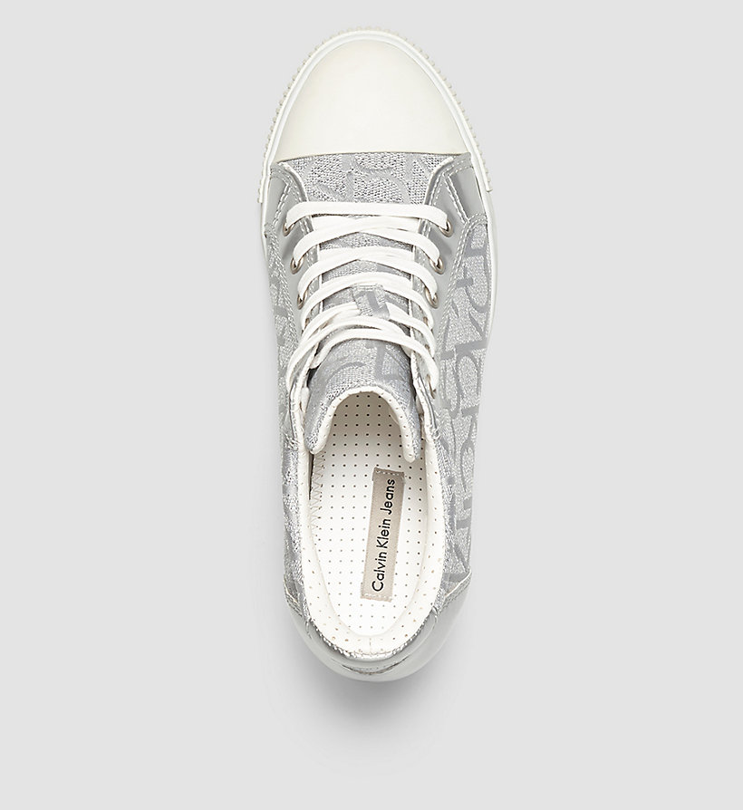 CKJEANS Metallic Jacquard Sneakers - LIGHT SILVER/LIGHT SILVER - CK JEANS SHOES & ACCESSORIES - detail image 1