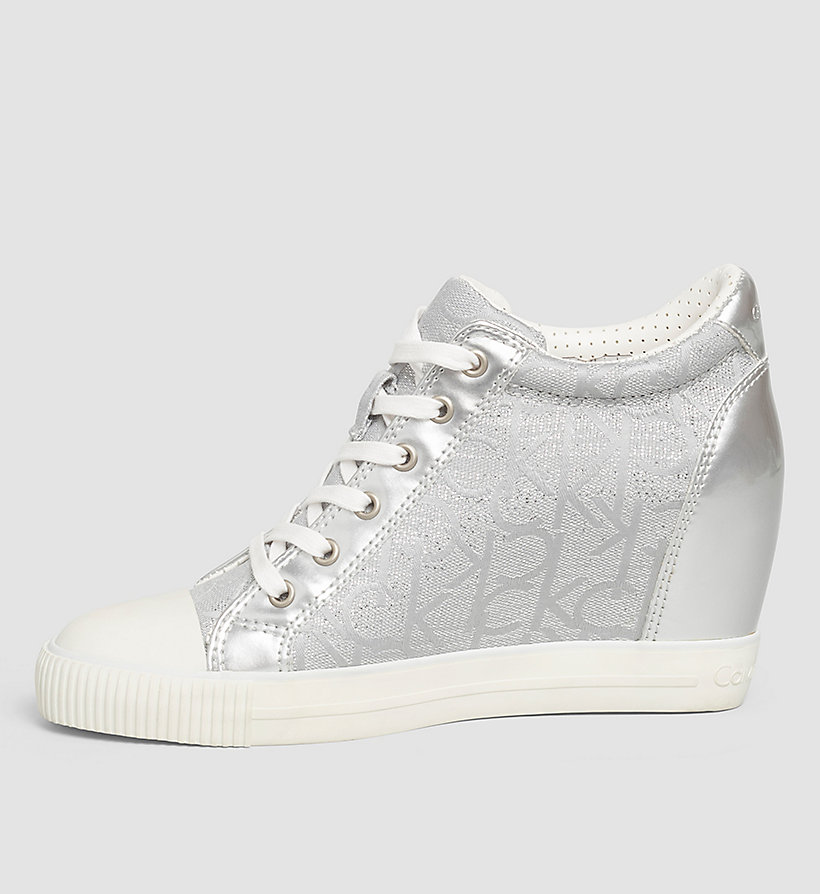 CKJEANS Metallic Jacquard Sneakers - LIGHT SILVER/LIGHT SILVER - CK JEANS SHOES & ACCESSORIES - detail image 2
