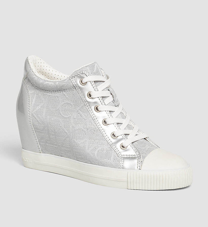 CKJEANS Metallic Jacquard Sneakers - LIGHT SILVER/LIGHT SILVER - CK JEANS SHOES & ACCESSORIES - main image