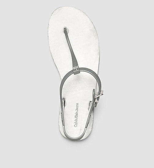 Metallic Jelly Sandals - SILVER/SILVER - CK JEANS SHOES & ACCESSORIES - detail image 1