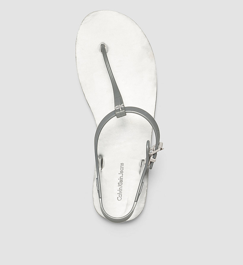 CKJEANS Metallic Jelly Sandals - SILVER/SILVER - CK JEANS SHOES & ACCESSORIES - detail image 1