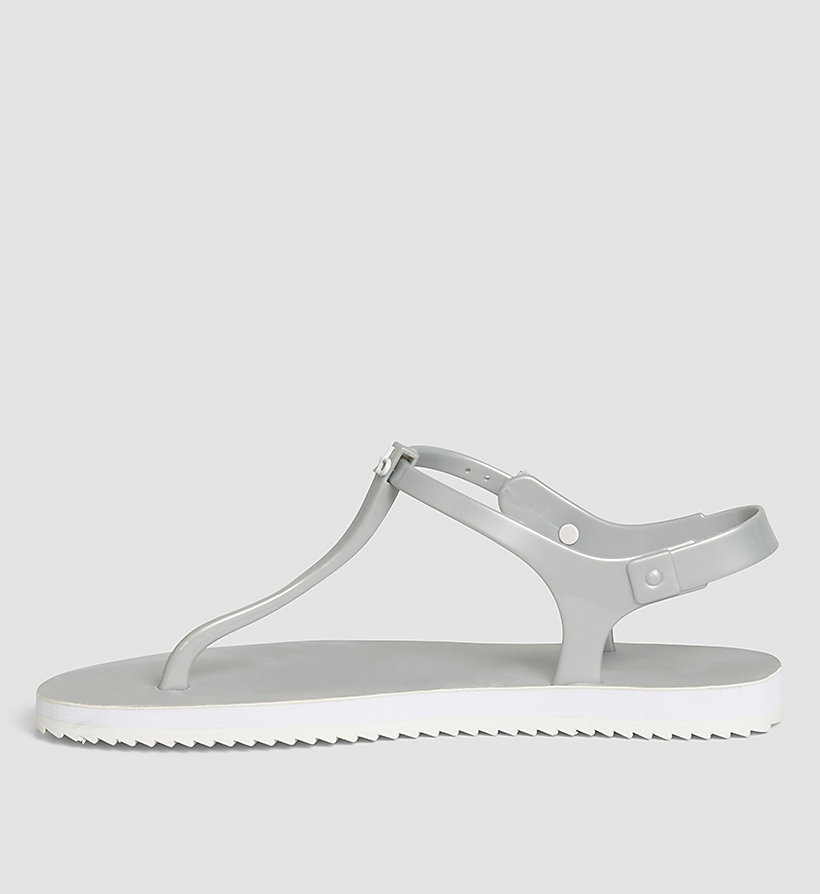 CKJEANS Metallic Jelly Sandals - SILVER/SILVER - CK JEANS SHOES & ACCESSORIES - detail image 2