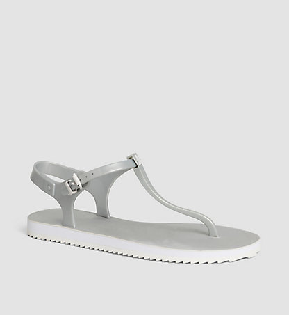 CALVIN KLEIN Metallic Jelly Sandals 0000RE9694SLV