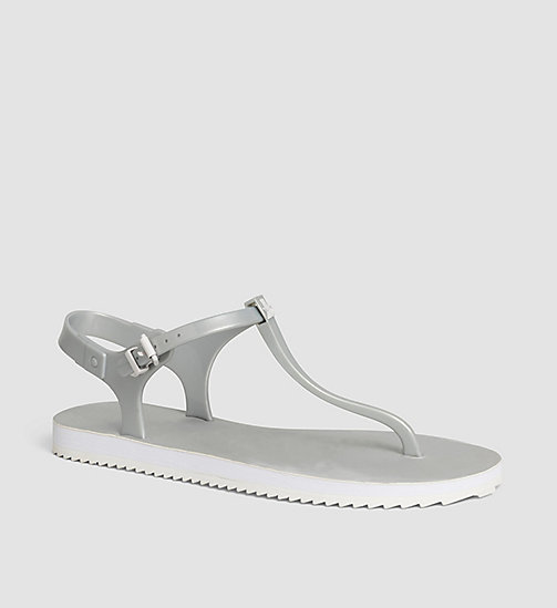 CKJEANS Metallic Jelly Sandals - SILVER/SILVER - CK JEANS SANDALS - main image