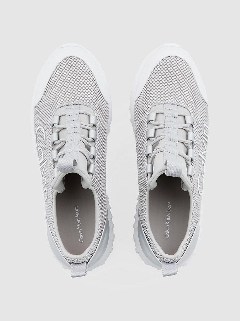 Calvin Klein - Sneakers aus Metallic-Mesh - 4