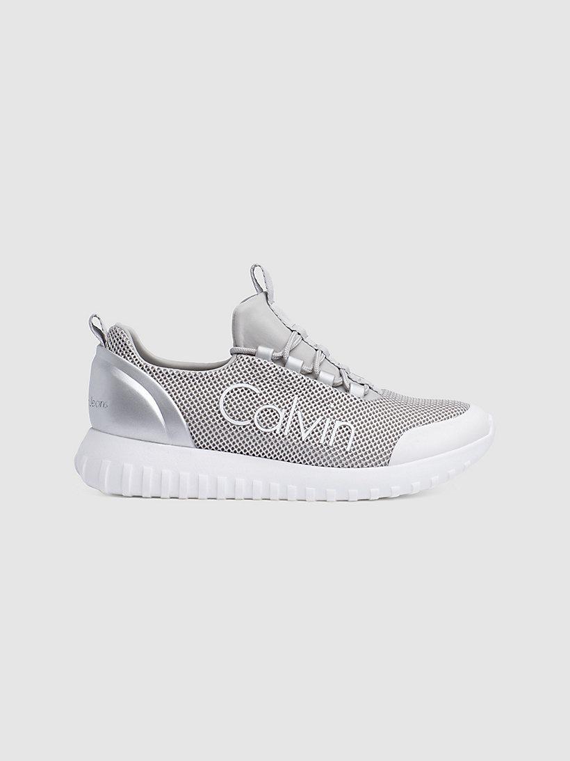 Calvin Klein - Sneakers aus Metallic-Mesh - 1