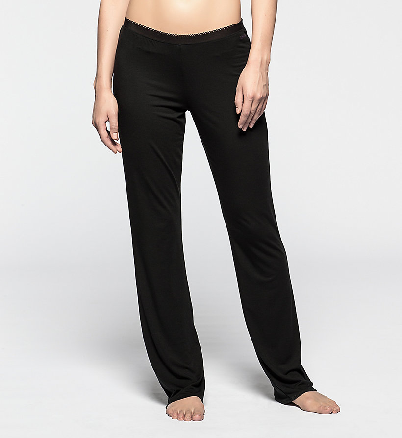 CALVINKLEIN PJ Pants - Icon - BLACK - CALVIN KLEIN TROUSERS - main image