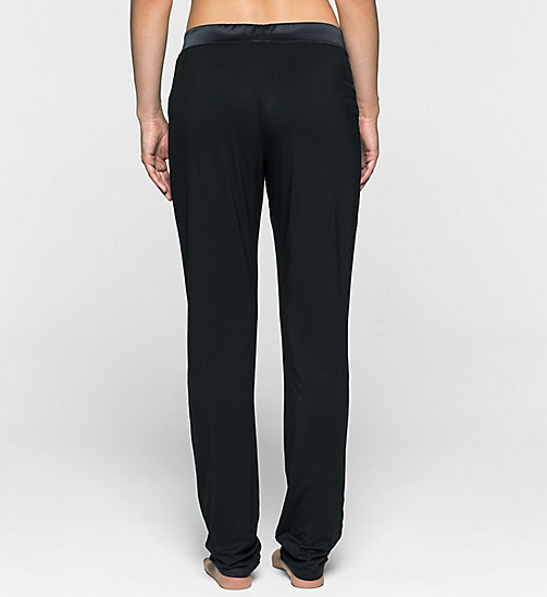 CALVINKLEIN Tapered PJ Pants - BLACK - CALVIN KLEIN PYJAMA BOTTOMS - detail image 1