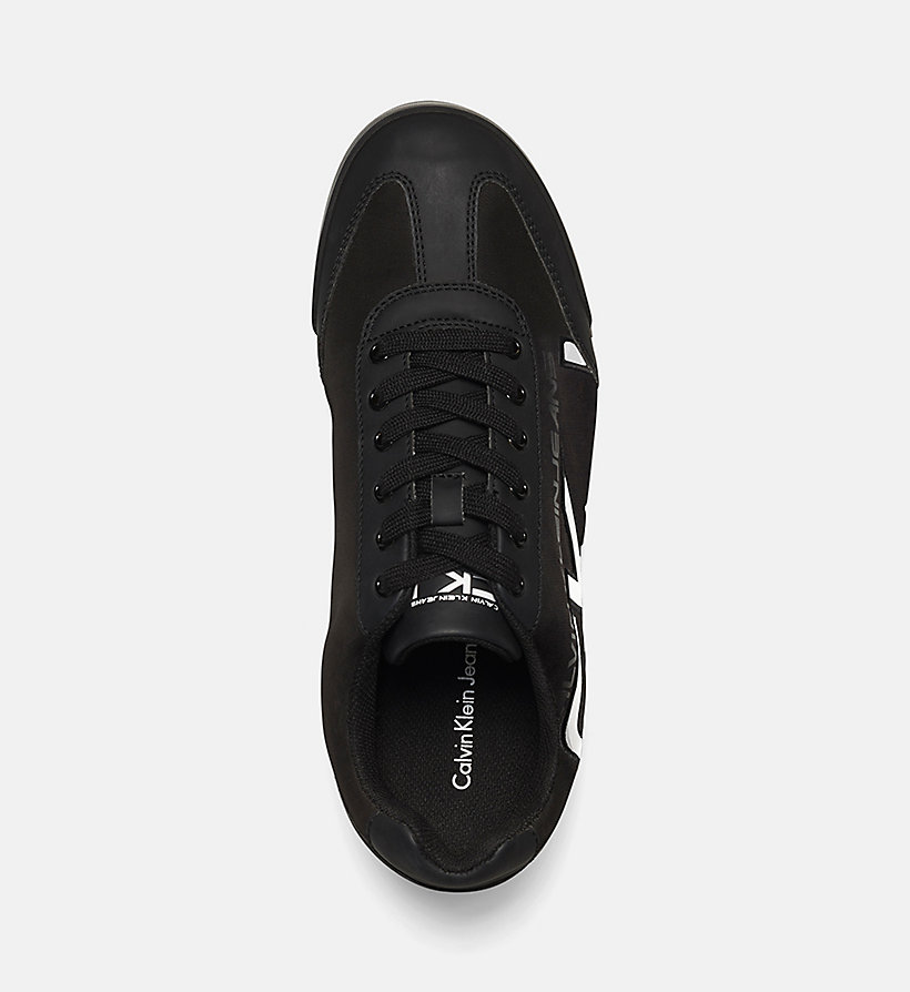 CKJEANS Matte Sneakers - BLACK/BLACK-WHITE - CK JEANS SHOES & ACCESSORIES - detail image 1