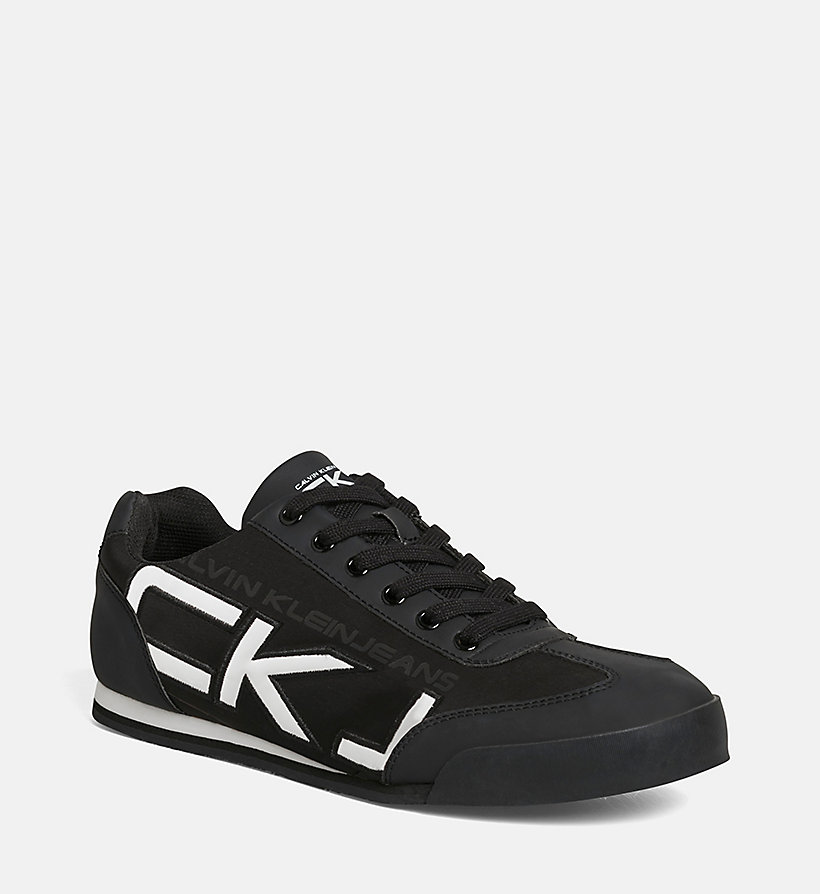 CKJEANS Matte Sneakers - BLACK/BLACK-WHITE - CK JEANS SHOES & ACCESSORIES - main image