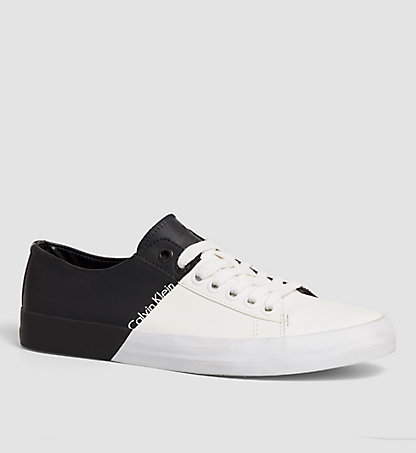 CALVIN KLEIN JEANS Leather Sneakers - Bryon 0000SE8460WBA