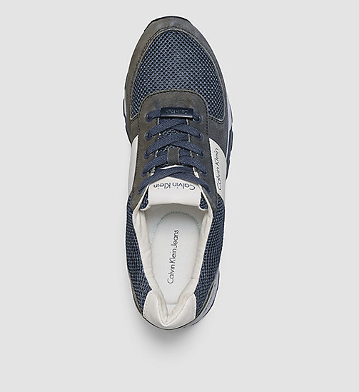 CKJEANS Leather Sneakers - BLUE/NAVY/WHITE - CK JEANS MODERN VOYAGER - detail image 1