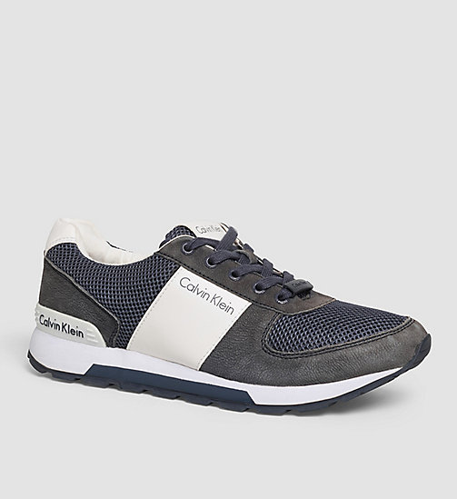 Leather Sneakers - BLUE/NAVY/WHITE - CK JEANS SHOES & ACCESSORIES - main image