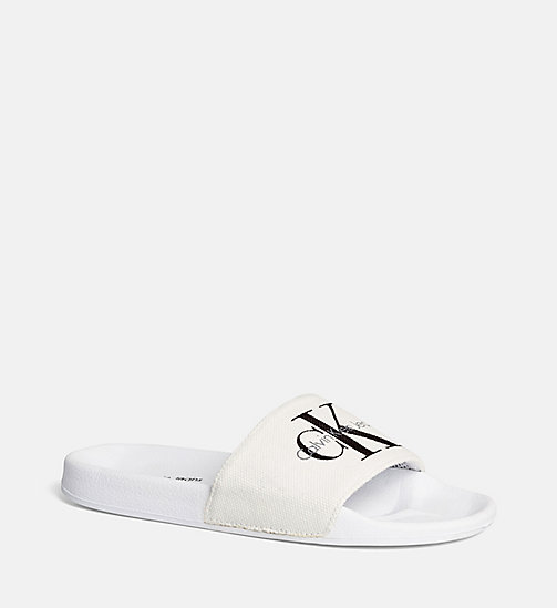 Canvas Logo Slippers - BLACK/WHITE - CK JEANS SHOES & ACCESSORIES - detail image 1