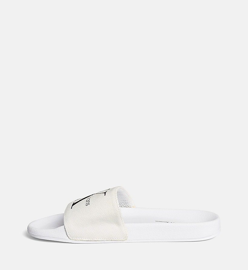 CKJEANS Canvas Logo Slippers - BLACK/WHITE - CK JEANS SHOES & ACCESSORIES - detail image 2