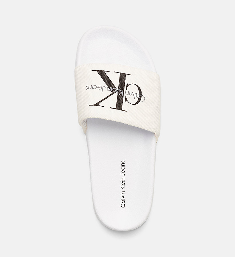 CKJEANS Canvas Logo Slippers - BLACK/WHITE - CK JEANS SHOES & ACCESSORIES - main image