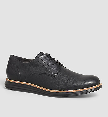 CALVIN KLEIN JEANS Leather Lace-Up Shoes - Sean 0000SE8547BLK