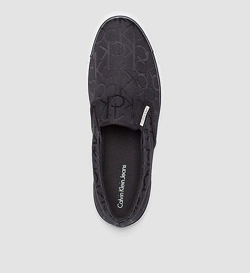 CKJEANS Logo Jacquard Slip-On Shoes - BLACK/BLACK - CK JEANS SHOES - detail image 1