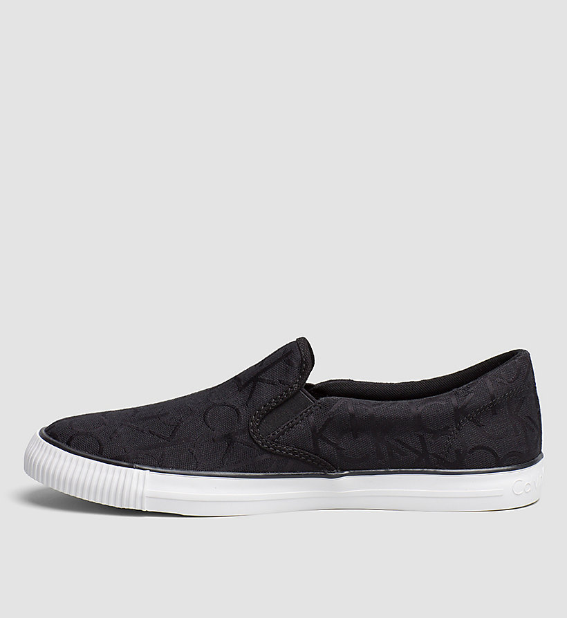 CKJEANS Logo Jacquard Slip-On Shoes - BLACK/BLACK - CK JEANS SHOES & ACCESSORIES - detail image 2