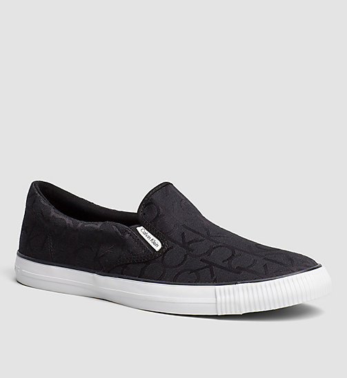 CKJEANS Logo Jacquard Slip-On Shoes - BLACK /  BLACK - CK JEANS TRAINERS - main image