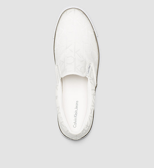 Logo Jacquard Slip-On Shoes - BLACK/WHITE - CK JEANS  - detail image 1