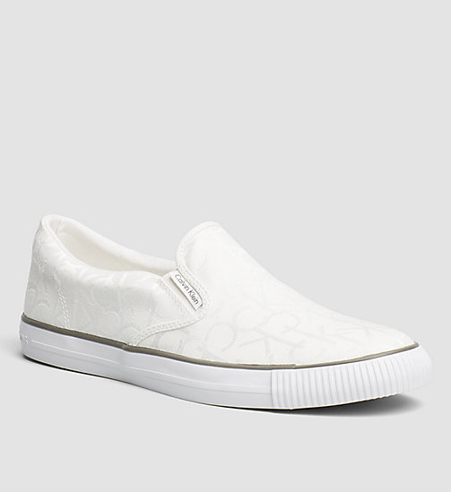 Logo Jacquard Slip-On Shoes - BLACK/WHITE - CK JEANS SHOES & ACCESSORIES - main image