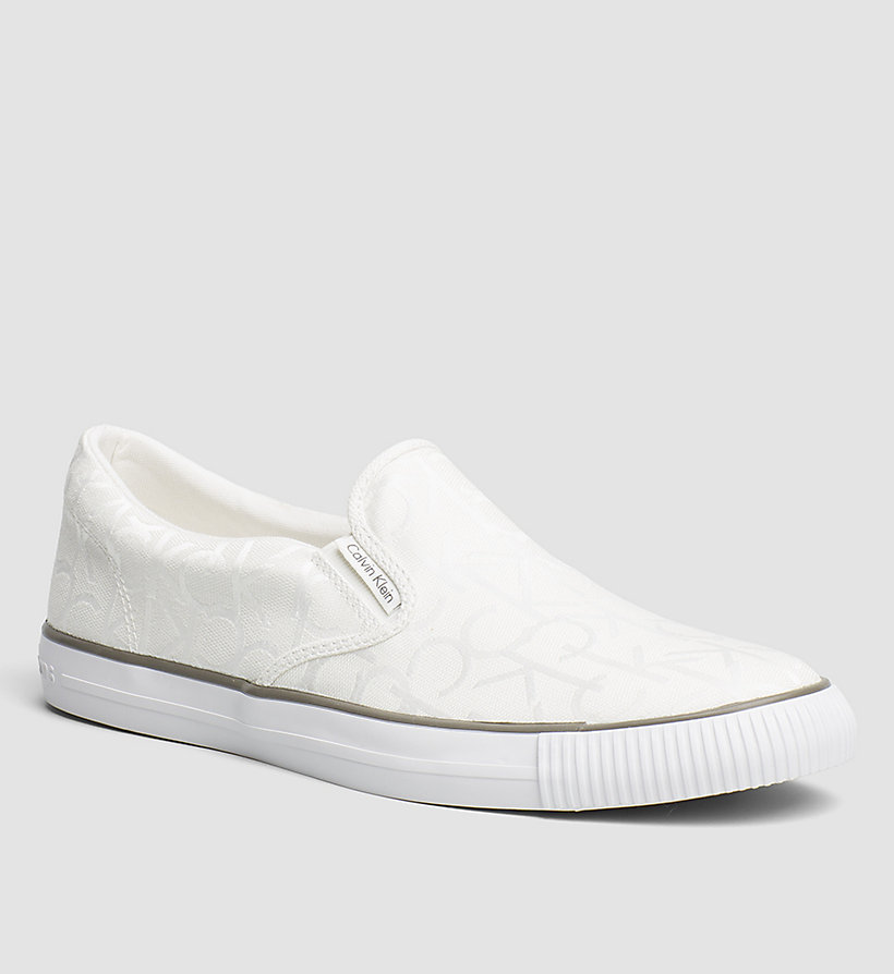 CKJEANS Logo Jacquard Slip-On Shoes - BLACK/WHITE - CK JEANS SHOES & ACCESSORIES - main image
