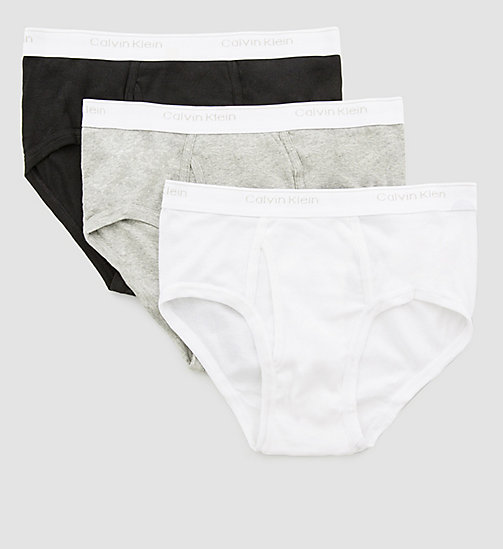 CALVINKLEIN 3 Pack Briefs - BLACK/WHITE/GREY HEATHER - CALVIN KLEIN BRIEFS - detail image 1