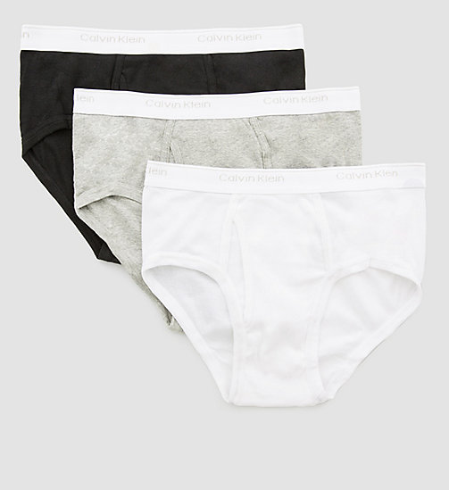 CALVINKLEIN 3 Pack Briefs - BLACK/WHITE/GREY HEATHER - CALVIN KLEIN BRIEFS - main image