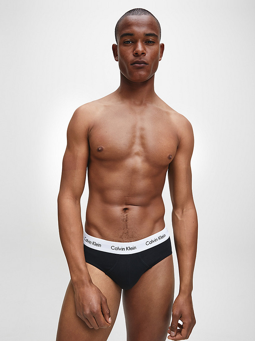 CALVINKLEIN 3 Pack Hip Briefs - Cotton Stretch - BLACK/WHITE/GREY HEATHER - CALVIN KLEIN UNDERWEAR - detail image 1