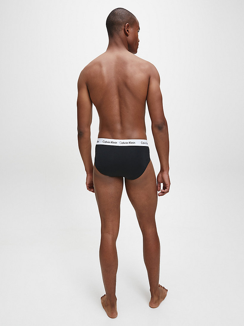 CALVINKLEIN 3 Pack Hip Briefs - Cotton Stretch - BLACK/WHITE/GREY HEATHER - CALVIN KLEIN UNDERWEAR - detail image 2