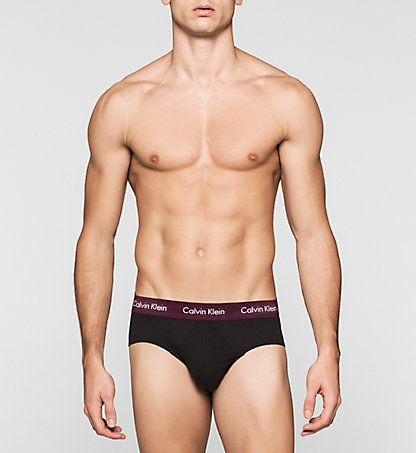 CALVIN KLEIN 3 Pack Hip Briefs - Cotton Stretch 0000U2661GFUG