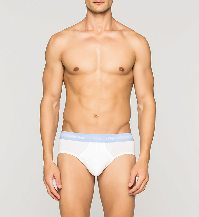 CALVINKLEIN 3 Pack Hip Briefs - Cotton Stretch - BLACK/COBALT W/BLUE - CALVIN KLEIN UNDERWEAR - detail image 2