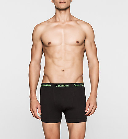 CALVIN KLEIN 3 Pack Trunks - Cotton Stretch 0000U2662GKPP