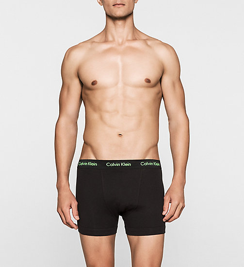 CALVINKLEIN 3 Pack Trunks - Cotton Stretch - B-PINK/GREEN/BLU - CALVIN KLEIN MULTIPACKS - main image