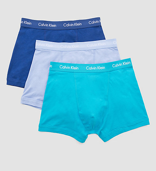 CALVINKLEIN 3 Pack Trunks - Cotton Stretch - C-SILVER LAKE/DARK MIDNIGHT/P - CALVIN KLEIN MEN - detail image 1
