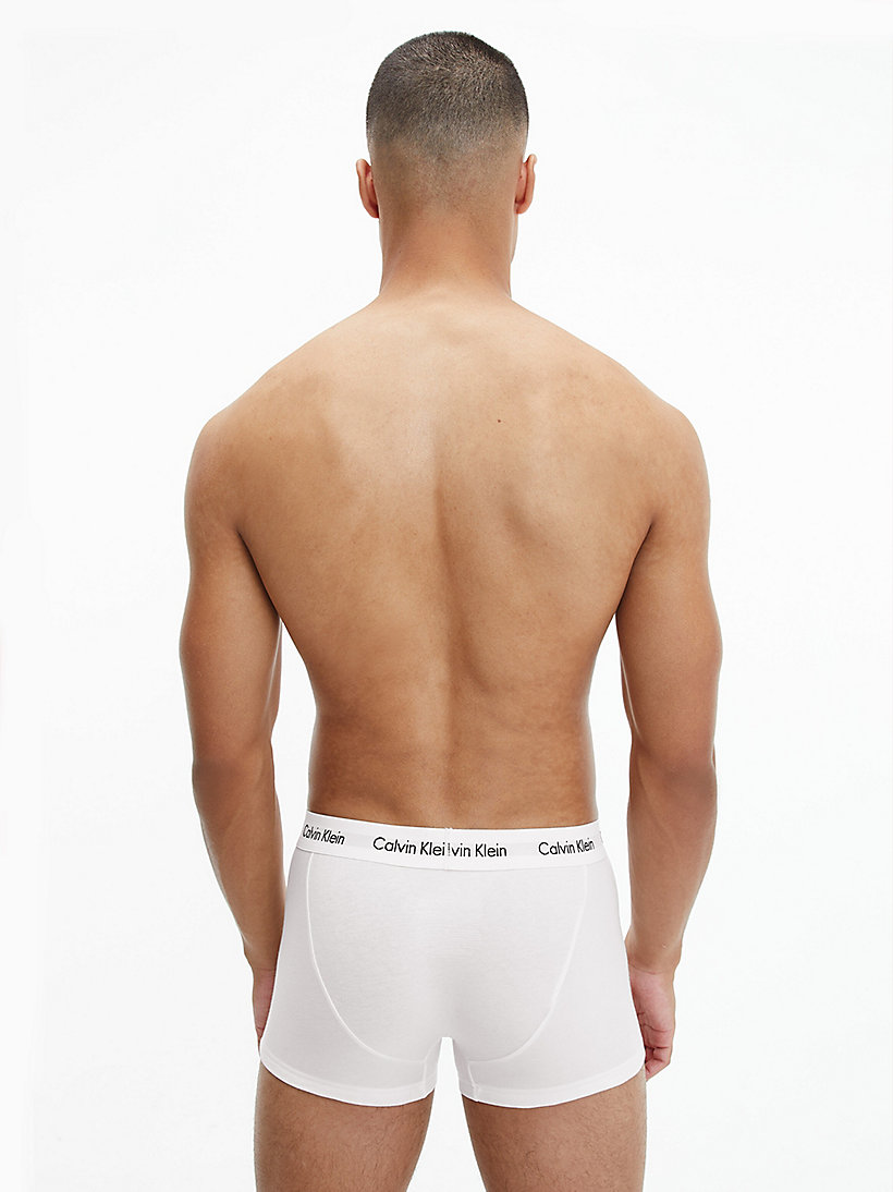 CALVINKLEIN 3 Pack Low Rise Trunks - Cotton Stretch - WHITE - CALVIN KLEIN  - detail image 2