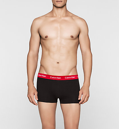 CALVIN KLEIN 3 Pack Low Rise Trunks - Cotton Stretch 0000U2664GCIU