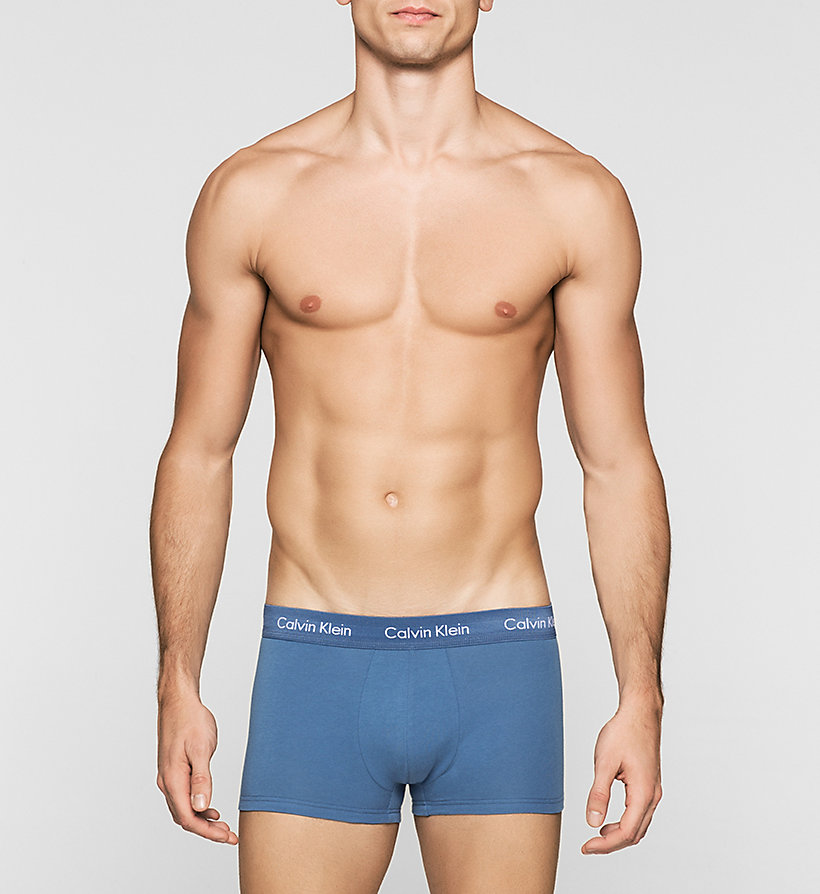 CALVINKLEIN 3 Pack Low Rise Trunks - Cotton Stretch - B-HENNA, VICTORIAN BLUE, AIRF - CALVIN KLEIN UNDERWEAR - detail image 2