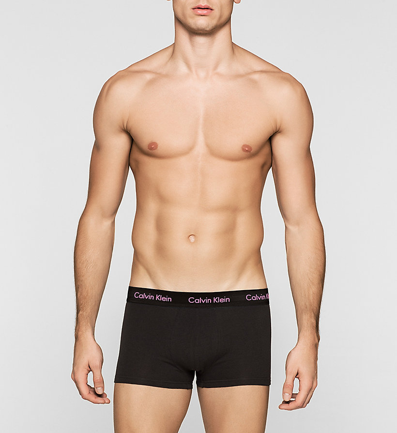 CALVINKLEIN 3 Pack Low Rise Trunks - Cotton Stretch - W-SILVER LAKE/DARK MIDNIGHT/P - CALVIN KLEIN UNDERWEAR - detail image 2
